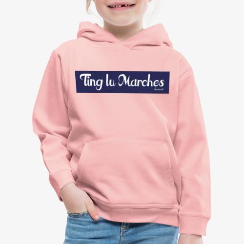 Ting lu Marches - Felpa con cappuccio Premium per bambini