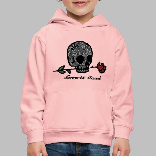 Love Is Dead Custom Skull Design - Kinderen trui Premium met capuchon