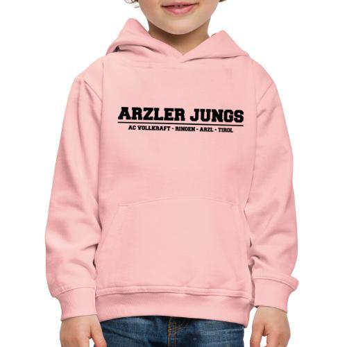 Arzler Jungs Schriftzug in Schwarz - Kinder Premium Hoodie