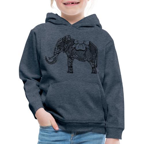 Éléphant oriental - Pull à capuche Premium Enfant