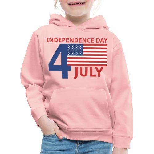 4 luglio giorno della indipendenza - Felpa con cappuccio Premium per bambini