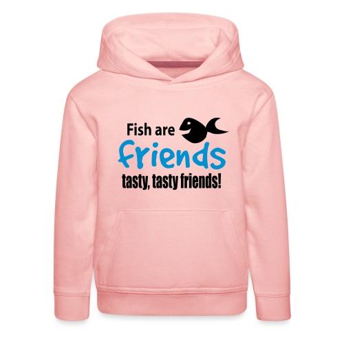 Fisk er venner - Premium Barne-hettegenser