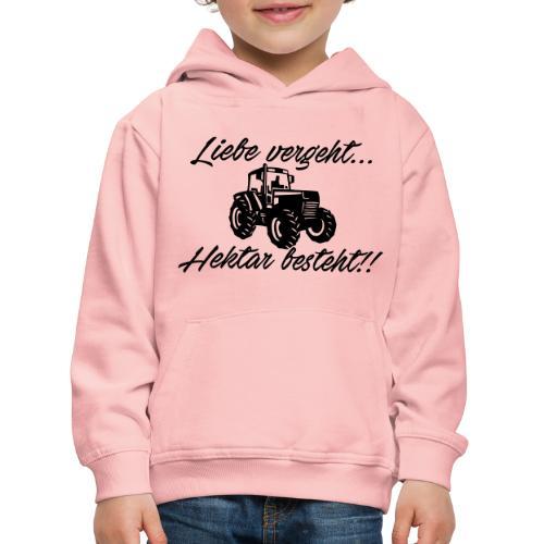 liebe vergeh - Kinder Premium Hoodie