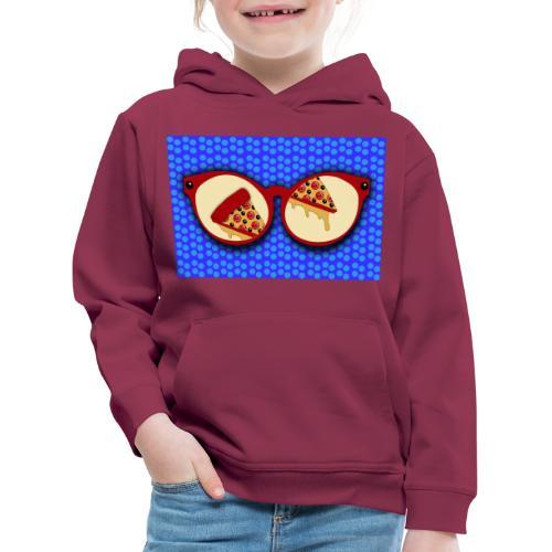 Bicchieri per amanti della pizza - Felpa con cappuccio Premium per bambini