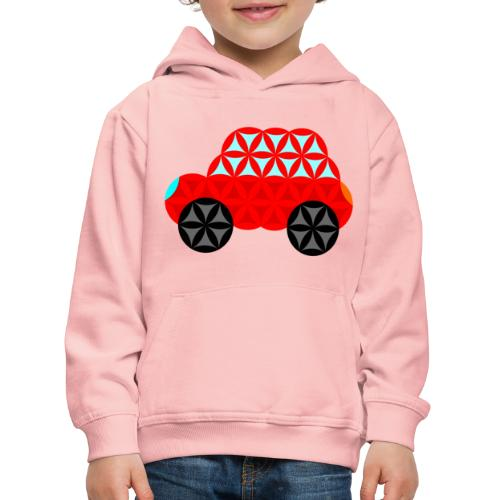 The Car Of Life - M01, Sacred Shapes, Red/R01. - Kids' Premium Hoodie