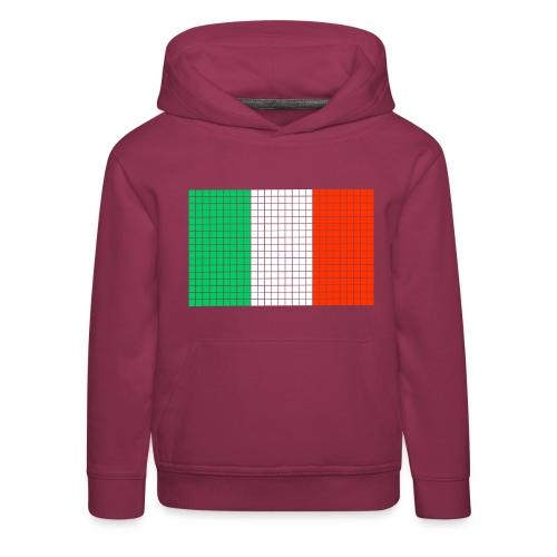 italian flag - Felpa con cappuccio Premium per bambini