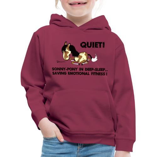 QUIET Sonny Pony in deep sleep - Kinder Premium Hoodie