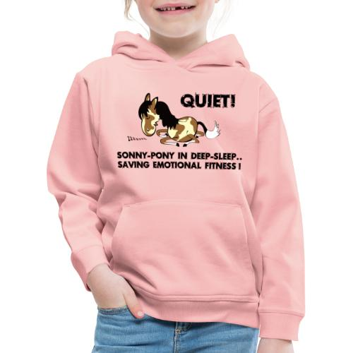QUIET Sonny Pony in deep sleep - Kinder Premium Hoodie