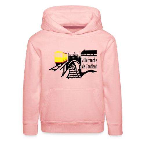 train jaune villefranche de conflent - Kinder Premium Hoodie