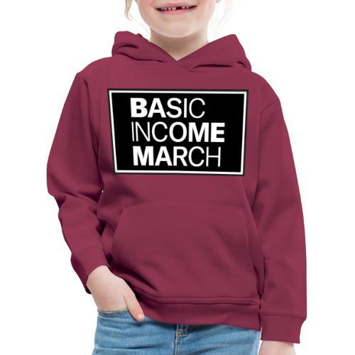 basic income march - Kinderen trui Premium met capuchon