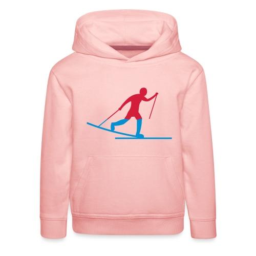 Skiløper - Premium Barne-hettegenser
