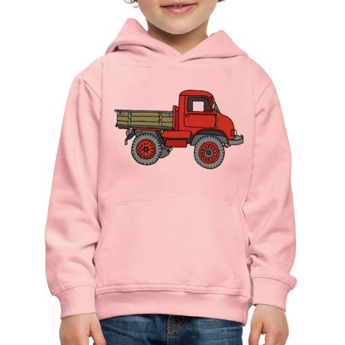 Roter Lastwagen, LKW, Laster - Kinder Premium Hoodie