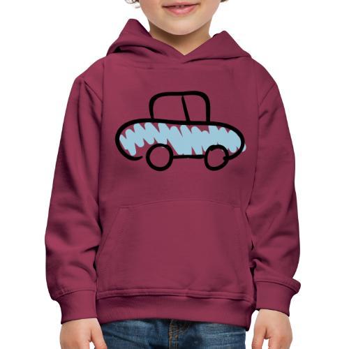 Car Line Drawing Pixellamb - Kinder Premium Hoodie
