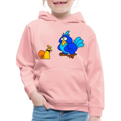 Schnecke und Vogel von dodocomics - Kinder Premium Hoodie
