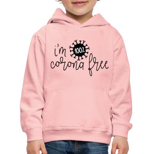 Ik ben coronavirus vrij. Stop de coronavirus - Kinderen trui Premium met capuchon