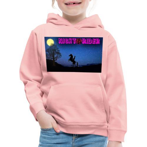 nightrider merch - Premium hættetrøje til børn