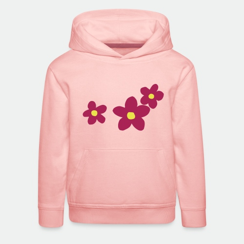 Three Flowers - Kids' Premium Hoodie