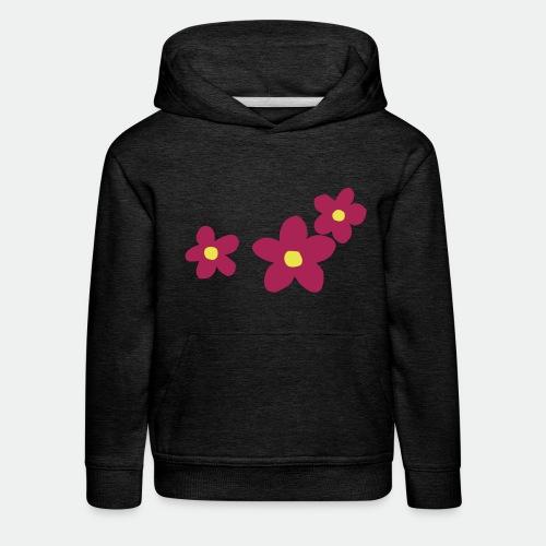 Three Flowers - Kids' Premium Hoodie