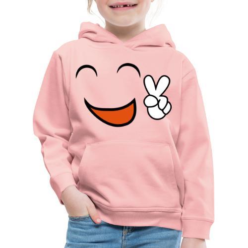 happy face and peace emoji - Sudadera con capucha premium niño