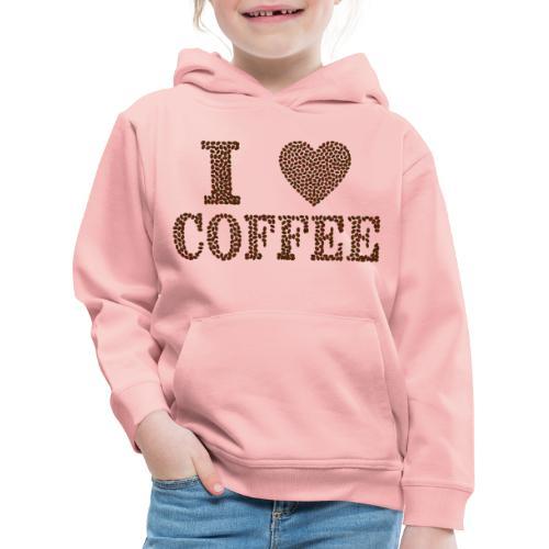 Ich liebe Kaffee - Kinder Premium Hoodie