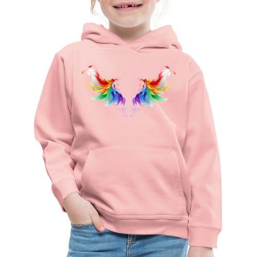 Ailes d'Archanges aux belles couleurs vives - Pull à capuche Premium Enfant