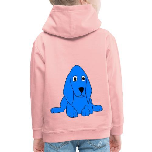 blu dog - Felpa con cappuccio Premium per bambini