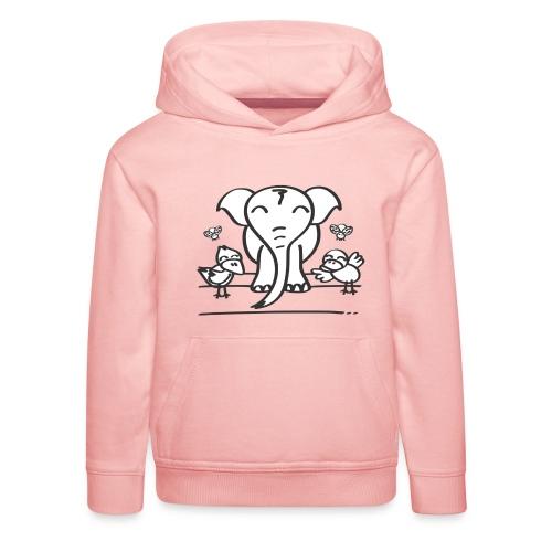 78 elephant - Kinder Premium Hoodie