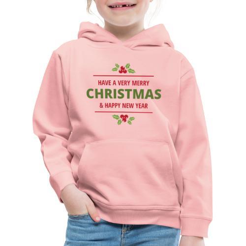merry christmas, christmas present, christmas tree - Kids' Premium Hoodie