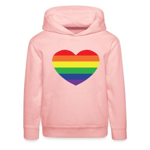 Rainbow heart - Kids' Premium Hoodie