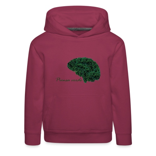 Piensa verde - Sudadera con capucha premium niño