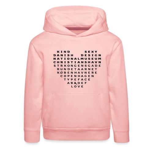 Copenhagen Heart - Premium hættetrøje til børn