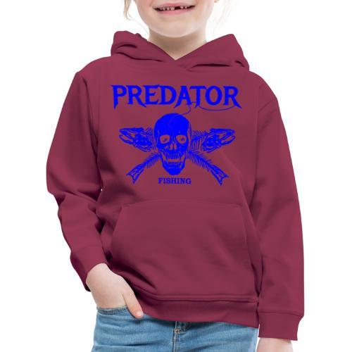 Predator fishing blue - Kinder Premium Hoodie