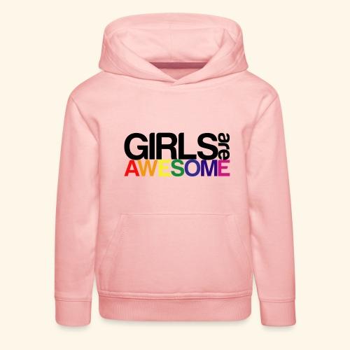 Girls are awesome - Bluza dziecięca z kapturem Premium