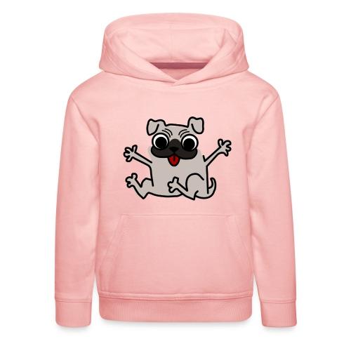 crazy pug - Kinder Premium Hoodie