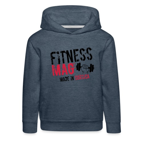 Fitness Mag made in corsica 100% Polyester - Pull à capuche Premium Enfant