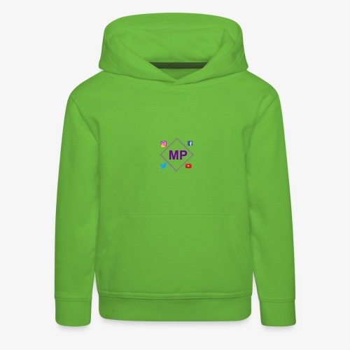 MP logo with social media icons - Kids' Premium Hoodie