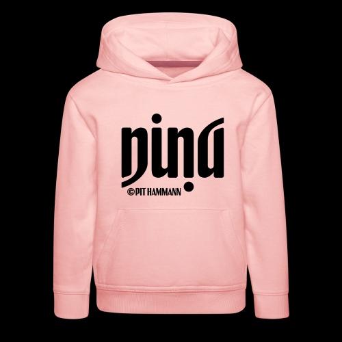 Ambigramm Nina 01 Pit Hammann - Kinder Premium Hoodie