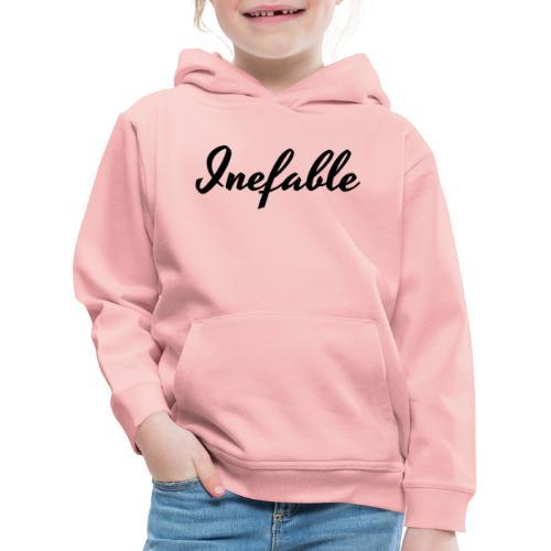 Inefable Negro. - Sudadera con capucha premium niño