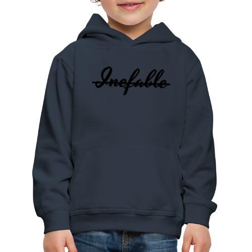 Inefable Tachado Negro. - Sudadera con capucha premium niño