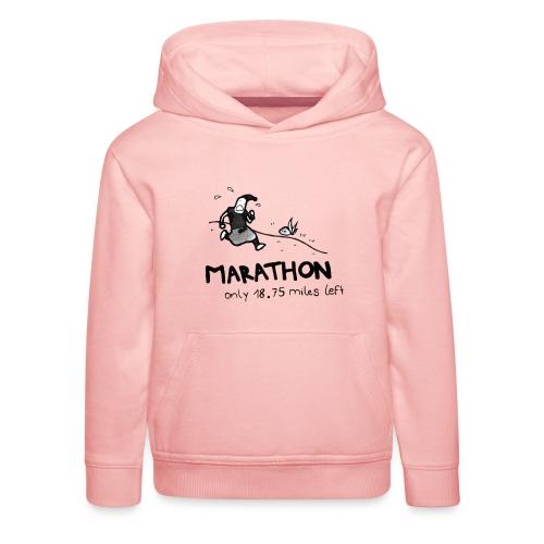 marathon-png - Bluza dziecięca z kapturem Premium