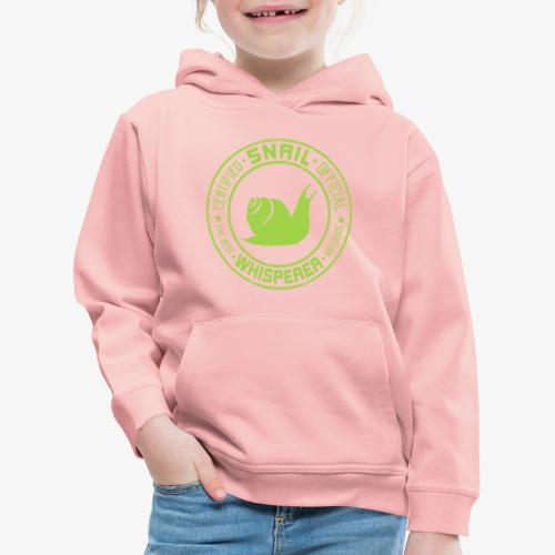 Snail Whisperer Green - Lasten premium huppari