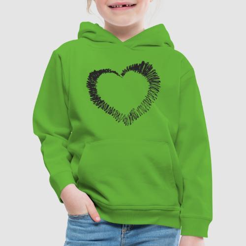 Herz sw spread - Kinder Premium Hoodie