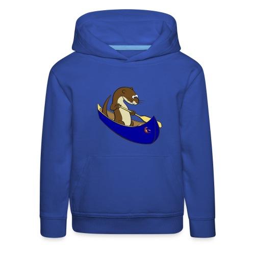 bluecanoewithsticker - Kids' Premium Hoodie