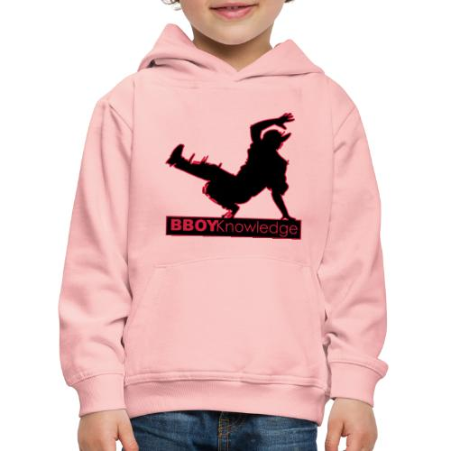 Bboy knowledge Logo Multi color,make your choice - Pull à capuche Premium Enfant