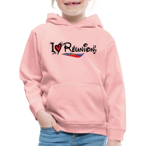 i love Réunion - MAHAVELI - Pull à capuche Premium Enfant