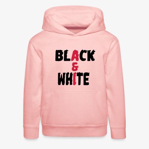 black et white - Pull à capuche Premium Enfant