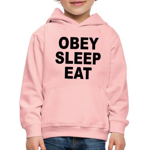 obey sleep - Pull à capuche Premium Enfant