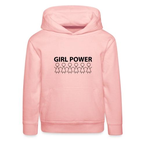 18 - Girl Power 002 - Premium hættetrøje til børn