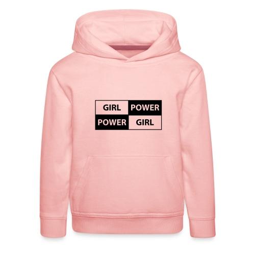 18 - Girl Power 003 - Premium hættetrøje til børn