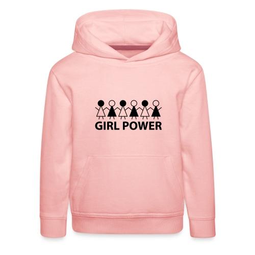 18 - Girl Power 005 - Premium hættetrøje til børn
